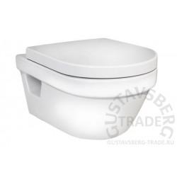 Подвесной унитаз Hygienic Flush с сиденьем